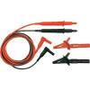 Cliff Biztonsági mérővezeték készlet [ dugó 4 mm - ellenőrzőhegy] 1.5 m piros, fekete Cliff CIH29890