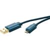 ClickTronic Számítógép Csatlakozókábel [1x USB 2.0 dugó A - 1x ] 0.50 m Kék clicktronic