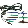Cliff Biztonsági mérővezeték készlet [ dugó 4 mm - hidegkészülék alj C13] 1.5 m kék, zöld, barna Cliff CIH29922