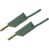 Mérővezeték [ lamellás dugó 4 mm - lamellás dugó 4 mm] 0.25 m szürke SKS Hirschmann MLN 25/2,5 Au szürke