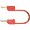 MultiContact Mérővezeték [ lamellás dugó 2 mm - lamellás dugó 2 mm] 0.6 m piros MultiContact LK2-F 60cm rt