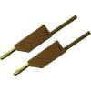 Mérővezeték [ lamellás dugó 4 mm - lamellás dugó 4 mm] 0.25 m barna SKS Hirschmann MLN 25/2,5 barna / brown Au