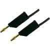 Mérővezeték [ lamellás dugó 4 mm - lamellás dugó 4 mm] 0.25 m fekete SKS Hirschmann MLN 25/2,5 fekete / black Au