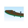 Richco Richco Mini szegecsek, TRM (A x B x C x D) 1.3 x 5.5 x 1.5 x 7.6 mm Lemezméret 2 x 2.7 mm Nylon Fekete