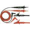 Cliff Biztonsági mérővezeték készlet [ dugó 4 mm - ellenőrzőhegy] 1.5 m piros, fekete Cliff CIH3007