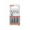 Bosch Csavarozó bit készlet extrakemény, 3 részes, T8, T10, T15, 89 mm Bosch 2607001759 hossz:89 mm