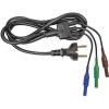 Cliff Biztonsági mérővezeték készlet [ védőérintkezős dugó - dugó 4 mm] 1.5 m kék, zöld, barna Cliff CIH29950