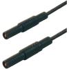 Biztonsági mérővezeték [ lamellás dugó 4 mm - lamellás dugó 4 mm] 1 m fekete SKS Hirschmann MLS GG 100/1 sw