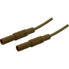 SKS Hirschmann Biztonsági mérővezeték [ lamellás dugó 4 mm - lamellás dugó 4 mm] 1 m barna SKS Hirschmann MLS GG 100/2,5 barna/brown