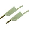 Mérővezeték [ lamellás dugó 4 mm - lamellás dugó 4 mm] 0.25 m fehér SKS Hirschmann MLN 25/2,5 weiss / white Au