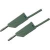 Mérővezeték [ lamellás dugó 4 mm - lamellás dugó 4 mm] 1 m szürke SKS Hirschmann MLN 100/2,5 szürke