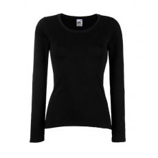 Fruit of the Loom FoL Lady-Fit Valueweight Long Sleeve T, fekete
