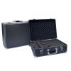 Dörr Aluminum Case Black 48 alukoffer előmetszett szivacsbetéttel és elválasztókkal, fekete