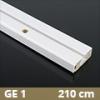 Fa betétes műanyag karnis (GE1) - 1 soros - 210 cm