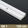 Fa betétes műanyag karnis (GE1) - 1 soros - 120 cm
