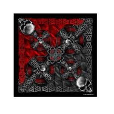 Piros-fekete kelta koponyás kendő