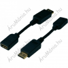 Digitus DisplayPort / HDMI adapter  [1x DisplayPort dugó - 1x HDMI alj] fekete, Digitus