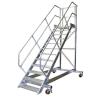 KRAUSE - Ipari lépcső dobogóval, gurítható 600mm 60° 6 fokos