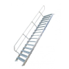 KRAUSE - Ipari lépcső 600mm 45° bordázott alu fokkal 18 fokos