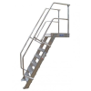 KRAUSE - Ipari lépcső dobogóval 800mm 60° bordázott alu fokkal 4 fokos