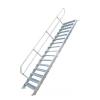 KRAUSE - Ipari lépcső 600mm 60° bordázott alu fokkal 5 fokos