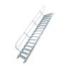 KRAUSE - Ipari lépcső 600mm 45° bordázott alu fokkal 7 fokos létra és állvány