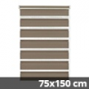 Easy fix doppel roló, mokka, ablakra: 75x150 cm