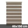 Easy fix doppel roló, mokka, ablakra: 60x150 cm