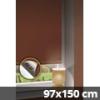 Hőszigetelő thermo mini roló, csokibarna, ablakra: 97x150 cm