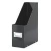 Leitz Iratpapucs, PPkarton, 95 mm, lakkfényű, LEITZ Click&Store, fekete