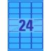 Avery Uiniverzális színes etikett 63,5x33,9 mm kék