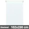 Blackout roló, fehér, ajtóra: 102x230 cm