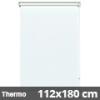 Hőszigetelő roló, Thermo, fehér, ablakra: 112x180 cm