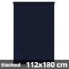 Blackout roló, sötétkék, ablakra: 112x180 cm