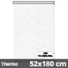 Hőszigetelő roló, Thermo, fehér csíkos, ablakra: 52x180 cm