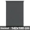 Blackout roló, szürke, ablakra: 142x180 cm