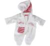 Götz piros-fehér rugdalózó, 42-46 cm játékbaba felszerelés