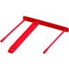 FELLOWES Lefűző klipp, műanyag, piros, 85 mm, FELLOWES (IFW00896)