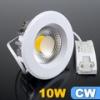 Beépíthető LED lámpa 10 Watt (135 mm, kerek) hideg fehér