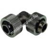 AquaTuning 19 / 13mm L tömlõ csatlakozó - fekete nikkel