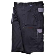 Portwest TX14 Texo Contrast rövidnadrág (FEKETE S)