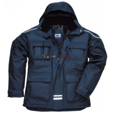 Portwest S563 RS Sokzsebes kabát (NAVY XL)