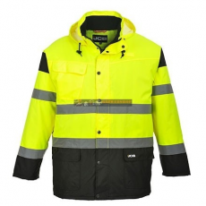JCB JC61 HIGH VISIBILITY PARKA JACKET L