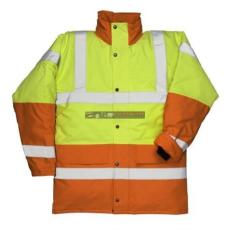 Portwest S466 Kontraszt Traffic kabát (SÁRGA/NARANCS XXXL)