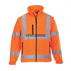 Portwest S424 Jól láthatósági Softshell dzseki ( Narancs - XXL )