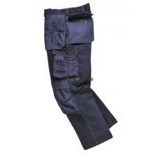 Portwest BP51 Boulder kontraszt varrású nadrág (FEKETE, XL, Hosszított)