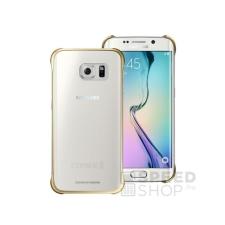 Samsung Galaxy S6 Edge gyári Clear Cover hátlap tok, arany, EF-QG925BF, (SM-G925) tok és táska