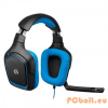 Logitech G430 7.1 Surround Sound Headset Black/Blue Headset,7.1,USB,Kábel:3m,20Hz-20kHz,Mikrofon,Black/Blue