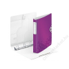 Leitz Gyűrűs könyv, 4 gyűrű, D alakú, 52 mm, A4, PP, LEITZ Active Wow lila (E42400062)