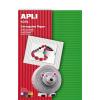 APLI Hullámkarton papír, 297x210 mm, 10 ív, , vegyes színek